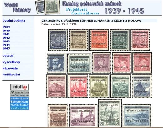 Letní novinka! Katalog poštovních známek - Protektorát ČaM (1939-1945) - World Philately 2016