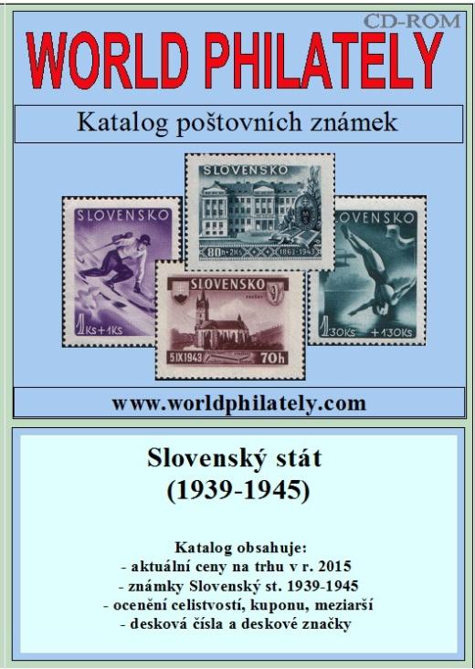 Letní novinka! Katalog poštovních známek - Slovenský stát (1939-1945) - World Philately 2016