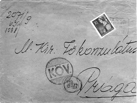 Merkur-Revue: Razítko neznámé poštovny z Karpatalje