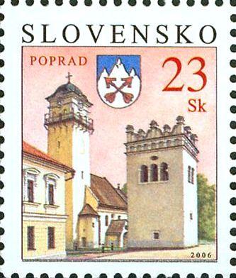 Mesto Poprad prvýkrát na známke