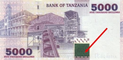 Metalografika na bankovkách – Tanzánie