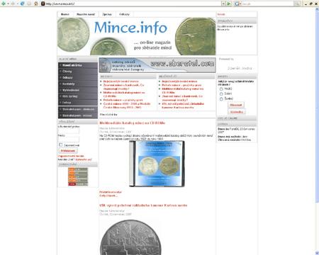 Mince.info - nový on-line magazín pro sběratele mincí
