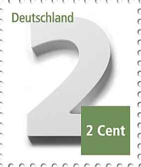 Německá 2- a 3-centová výplatní známka