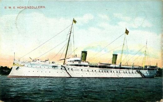 N�meck� c�sa�sk� jachta SMY Hohenzollern