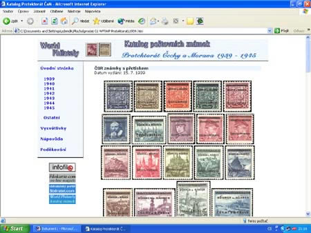 Novinka: CD-ROM World Philately 2005 - Protektorát Čechy a Morava (1939-1945)