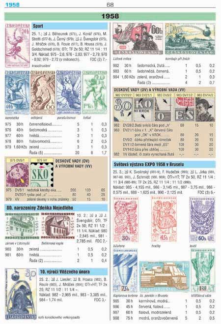 Novinka: POFIS katalog: barevná příručka ČSR II. (1945-1992)