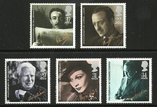 Osobnosti na britských známkách