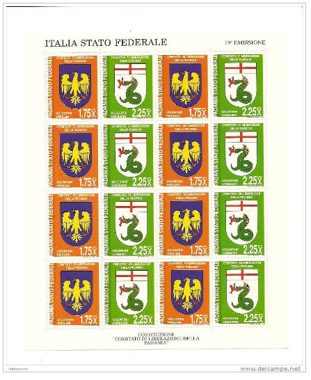 Padania a Italia Stato Federale