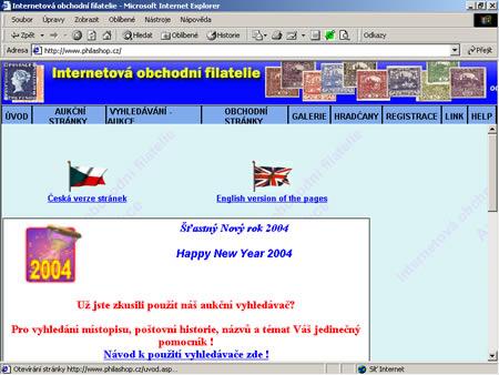 Philashop.cz - úspěšné aukční stránky