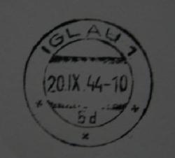 Pozor na originální razítko IGLAU 1 – Jihlava