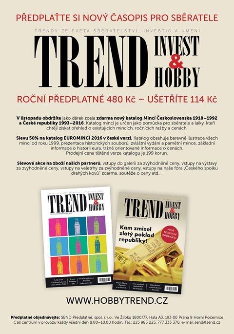 Představujeme nové číslo časopisu TREND Invest a Hobby 2/2015