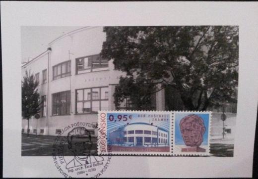 Prezentácia známky Budova Pošty Piešťany 1