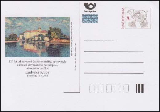 Příležitostná dopisnice k150. výročí narození malíře Ludvíka KUBY