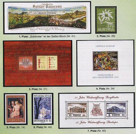 Rakouská poštovní známka roku 2005