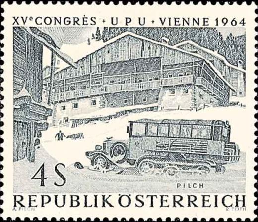 Rakouské poštovní autobusy