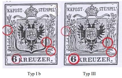 Rakousko 1850 - padělek rýhovaného papíru 6 Kr na celistvosti