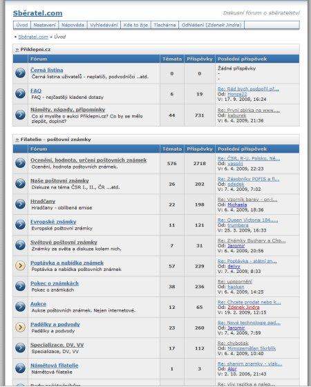 Sběratel.com - diskuze o sběratelství - 5878 uživatelů