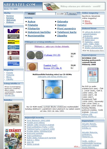 Sběratel.com - diskuze o sběratelství - přes 9100 uživatelů