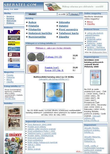Sběratel.com - diskuze o sběratelství - přes 9900 uživatelů