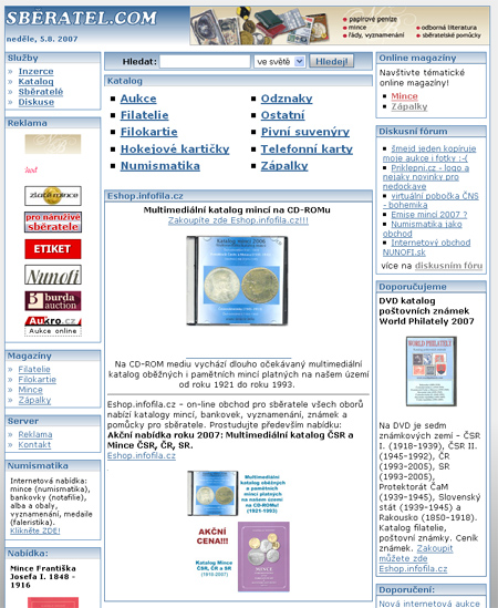 Sběratel.com - portál pro všechny sběratele