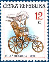 Sběratelství - historické dětské kočárky 12 Kč