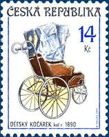 Sběratelství - historické dětské kočárky 14 Kč