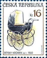 Sběratelství - historické dětské kočárky 16 Kč
