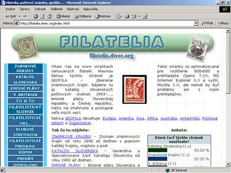 Slovenská filatelie a internet I.