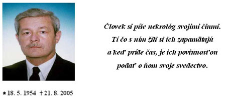 Smútime za doc. Ing. Jozefom Tekeľom, DrSc.