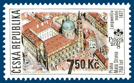 Světová výstava poštovních známek PRAGA 2008 - PRAHA – Malá Strana 750 let