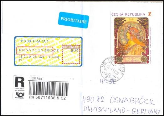 Úbytek poštovních razítek na dopisech