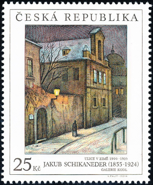Umělecká díla na známkách: Jakub Schikaneder (1855 – 1924)