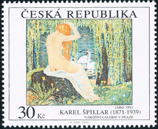 Umělecká díla na známkách: Karel Špillar (1871 - 1939)