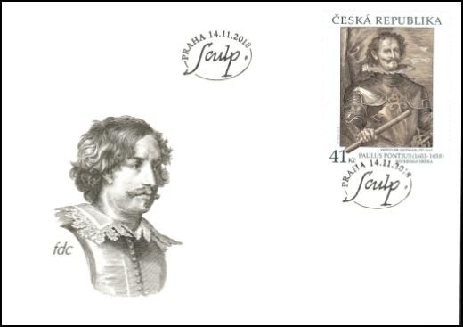 Umělecká díla na známkách - Paulus Pontius