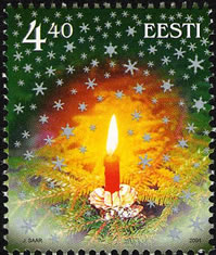 Vánoční známky Estonska