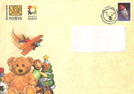 Vianočná obálka Slovenskej pošty