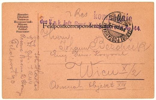 Vídeň válečná filatelistická