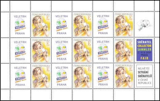 Výplatní písmenová známka E s kupóny pro přítisky Rozvoj filatelie