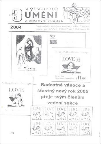 Výtvarné umění a poštovní známka 3/2004
