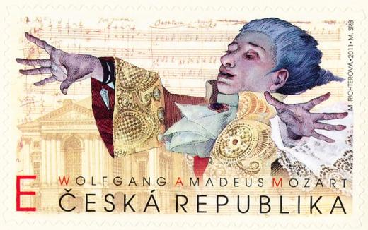 W. A. Mozart - E - známkový sešitek