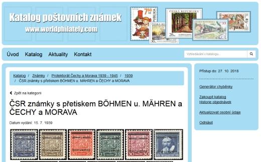 Worldphilately.com – ceník poštovních známek on-line
