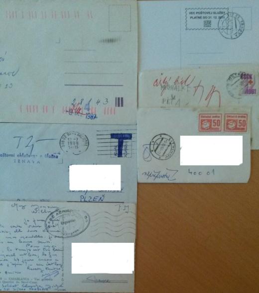 Zaujímavé dokumenty  poštovej prevádzky