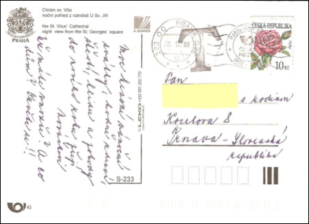 Zaujímavosť jednej pohľadnice