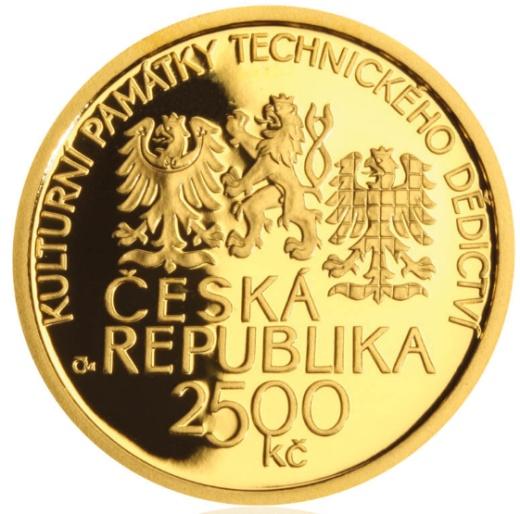 Zlatá 2500 Kč mince Hamr v Dobřívě proof