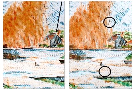 Zpravodaj 04/2009: Emise Umění – známka 615 Zdymadlo v Moret –  Alfred Sisley 24 Kč