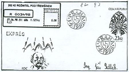Zpravodaj 1/2003: Obálka prvního dne použita v poštovním styku