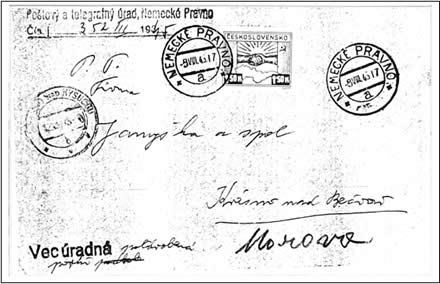 Zpravodaj 2/2003: Dopis s jednoznámkovou frankaturou 1,50 K Košického vydání