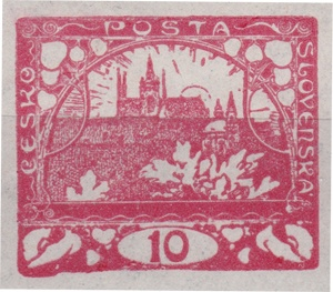 10h červená - vývoj 91 známkového pole 4 tiskové desky