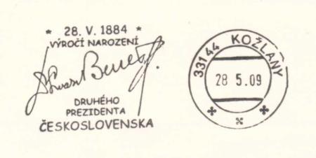 125. výročí narození Dr. Edvarda Beneše