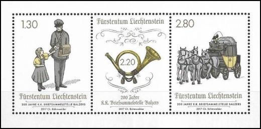 200 let poštovních služeb v Lichtenštejnsku